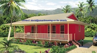 China Moistureproof Home Beach Bungalows , Fireproof Wooden House Bungalow supplier