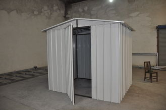 China Moistureproof Construction Steel Metal Car Sheds / Shelters White supplier