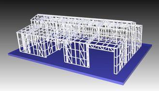 China Structural Steel Light Frame Metal Garden Shed / Metal Car Sheds supplier