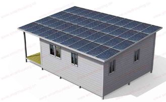 China Modern Moveable Foldable House / Blue Steel Frame Prefab Granny Flat supplier