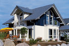 China Russian Style Prefab House Villa / Light Steel Frame Pre Manufactured Homes factory