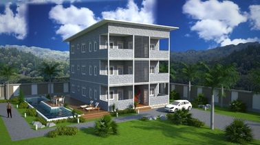 SOHO Steel Structure Prefabricated Apartment Buildings , Prefabricated Apartments