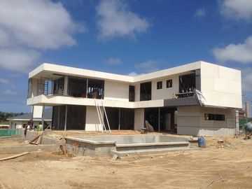 2 Story  , flat roof , Uruguay prefabricated light steel house , Light Steel Frame Houses