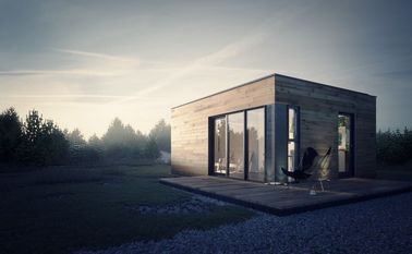Prefabricated House Prefab Garden Studio with Light Steel Frame Storage